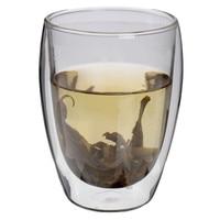 350mL Clear Handmade Heat Resistant Double Wall Glass Kungfu Tea Drink Cup Healthy Drink Mug Coffee