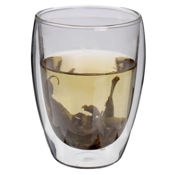 350mL Clear Handmade Heat Resistant Double Wall Glass Kungfu Tea Drink Cupware Healthy Drink Mug Insulated