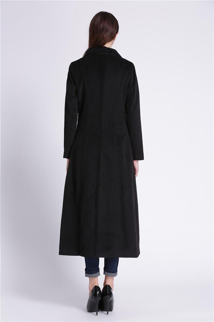 Double xxl Xs Taille Black Pour Laine Breates Veste Survêtement Longue Slim Rabattu En Col Ultra Conception Femmes fqBCIBP