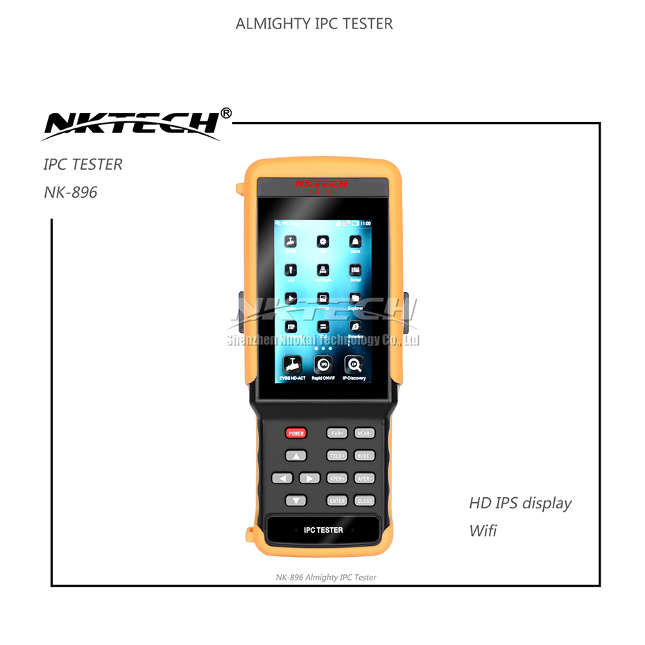 NKTECH IP Camera Tester NK-896 5-IN-1 HD Video CCTV Security Monitor WiFi 4.3 IPS Capacitance Touch Screen For IP AHD CVI TVI