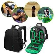 Double-Shoulder Waterproof Polyester SLR Bag Video Photo Bag for Camera d3200 d3100 d5200 d7100 Compact Camera Backpack LMPJ