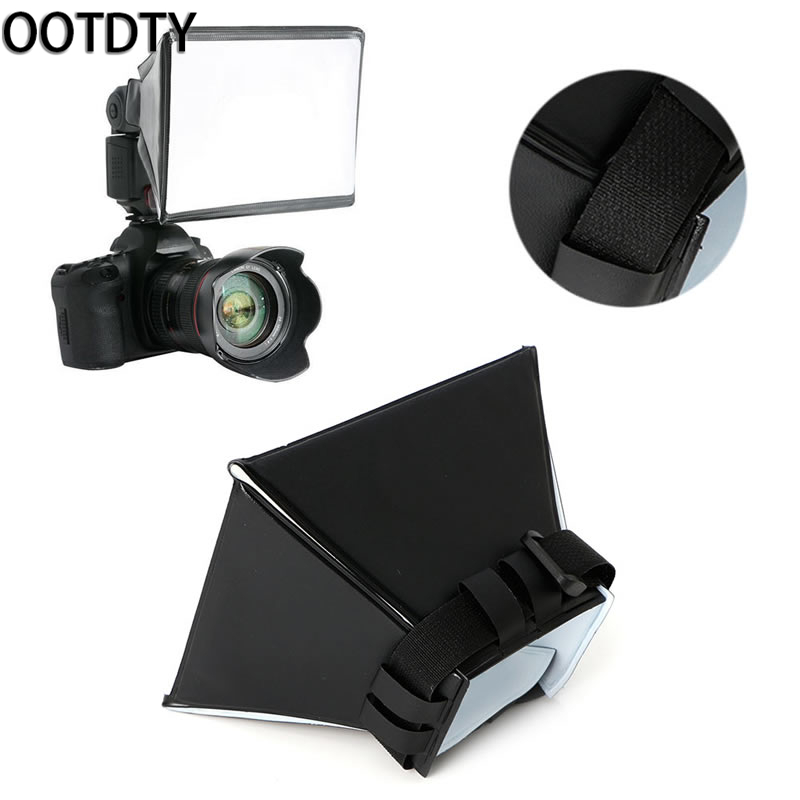 2018 High Quality OOTDTY Universal Pro Foldable Soft Box Flash Diffuser Dome For Nikon Sony Pentax