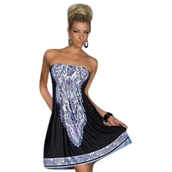 New Fashion Women Summer Casual Beach Dress Retro 1960s ...
