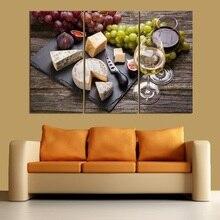 Сыр белое вино без рамы еда печать украшения дома плакаты и принты стены искусства холст картины настенные картины
