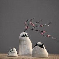 Чернила Керамика ваза, ваза для цветов альтернативы Книги по искусству проекта цветок и ваза деко для автомобиля Спальня пример ваза