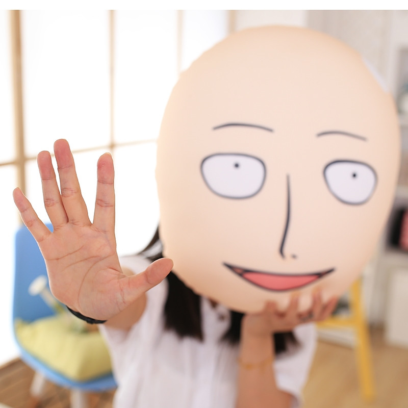Hot Anime One Punch Man Pillow Saitama Bald Superman Stuffed Toys