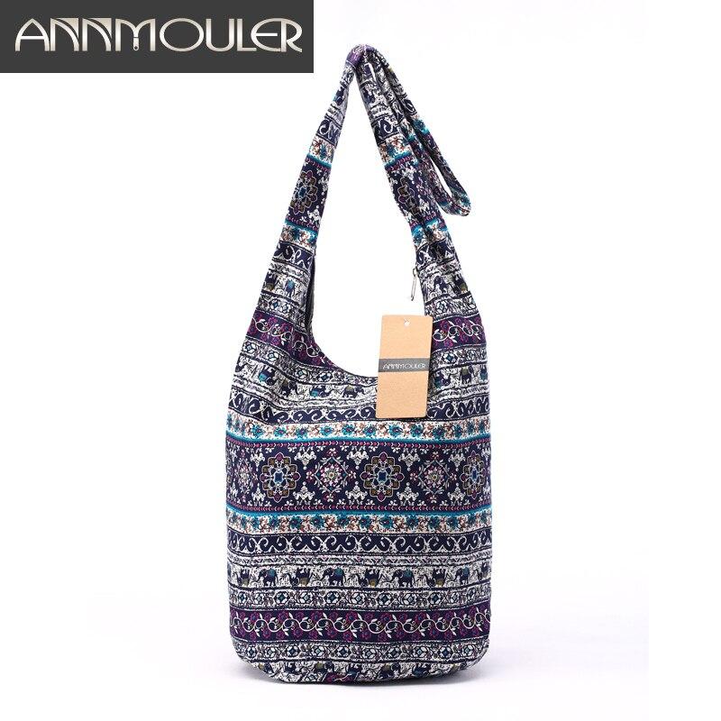 15f040071 New Design Women Bag Mochila Cotton Fabric Messenger Bag Bolsa Feminina  Elephant Print Shoulder Bag Large