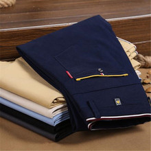 Solid Khaki Black Pants Men Pantalon Homme New Design Casual Men Pants Cotton Slim Pant Straight Trousers Fashion Business 28-40