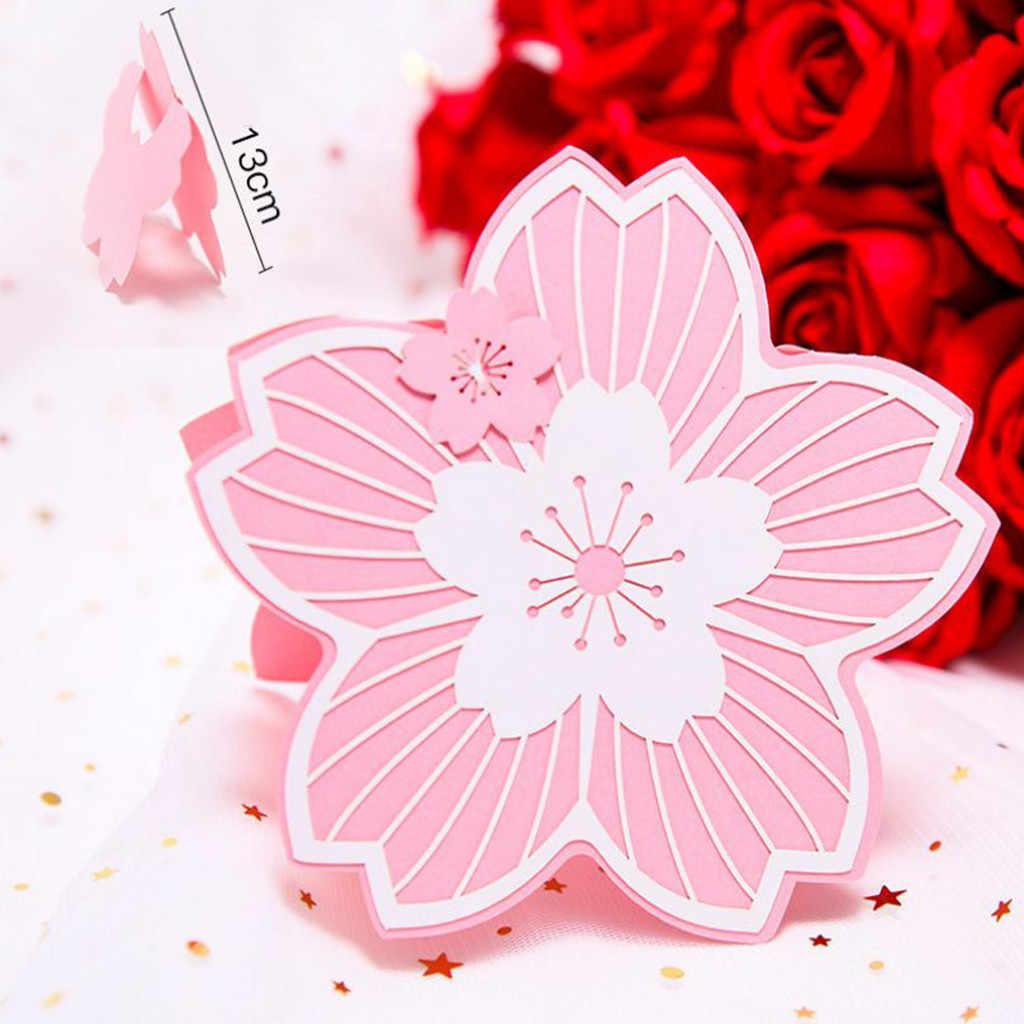 Partecipazioni Matrimonio Wedding.Cherry Blossom Shape Festival Wedding Invitation Card Party