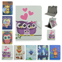 Owl pattern PU Leather Case For Teclast A70h/A70/G17 Cover Tablet Shell Skin universal 7 inch case+Screen Protector