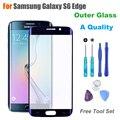 + Качество Сенсорная Панель Внешний Стекло для Samsung Galaxy S6 край G925A G925F Экран Замена Переднее Стекло ЖК-Объектив С логотип