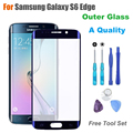 A+ Quality Touch Panel Outer Glass for Samsung Galaxy S6 Edge G925F G925A Screen Replacement Front Glass LCD Lens With Logo