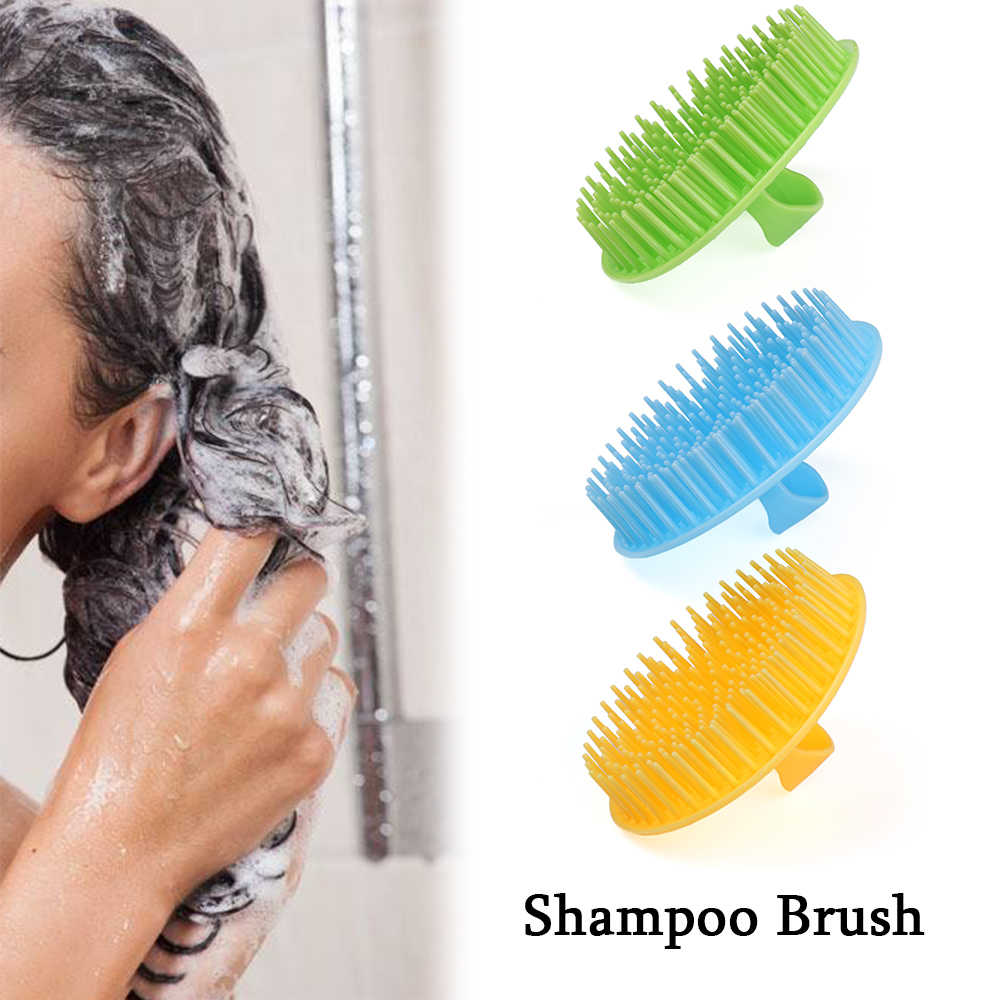 1PC Candy Color Plastic Shampoo Washing Hair Massager Comb Scalp Shower Body Brush Shampoo Pocket Soft Styling Tool Hairbrush