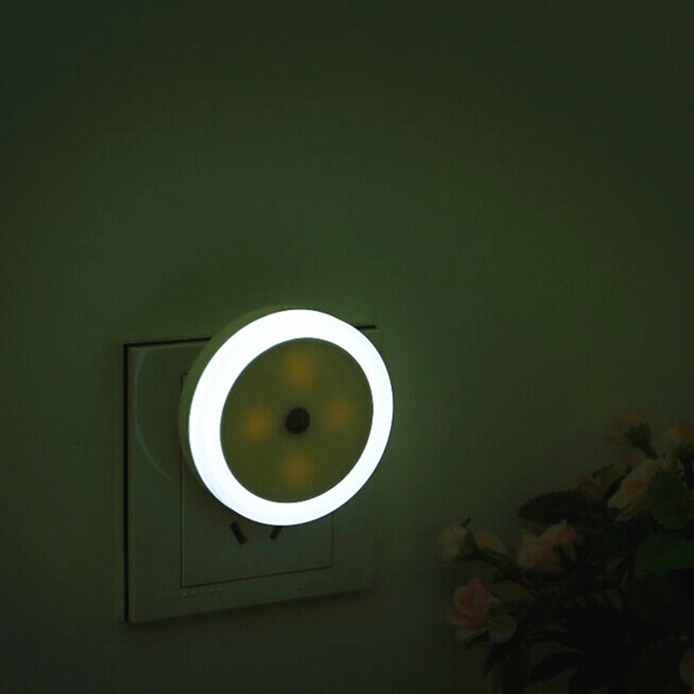 Round Shape Wall Light LED Induction Lamp Nightlight Automatic Switch Light