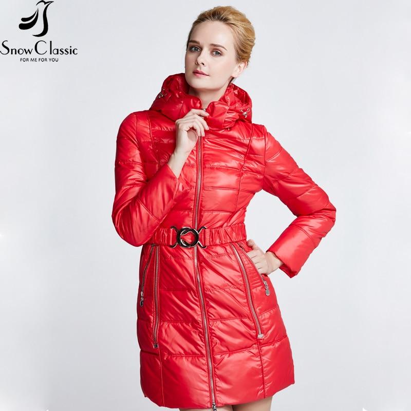 SnowClassic Mulher Casacos de Inverno Caixilhos Com Capuz parkas Casacos de Inverno Parka Casaco Acolchoado feminino moda mulheres hot sale 2018