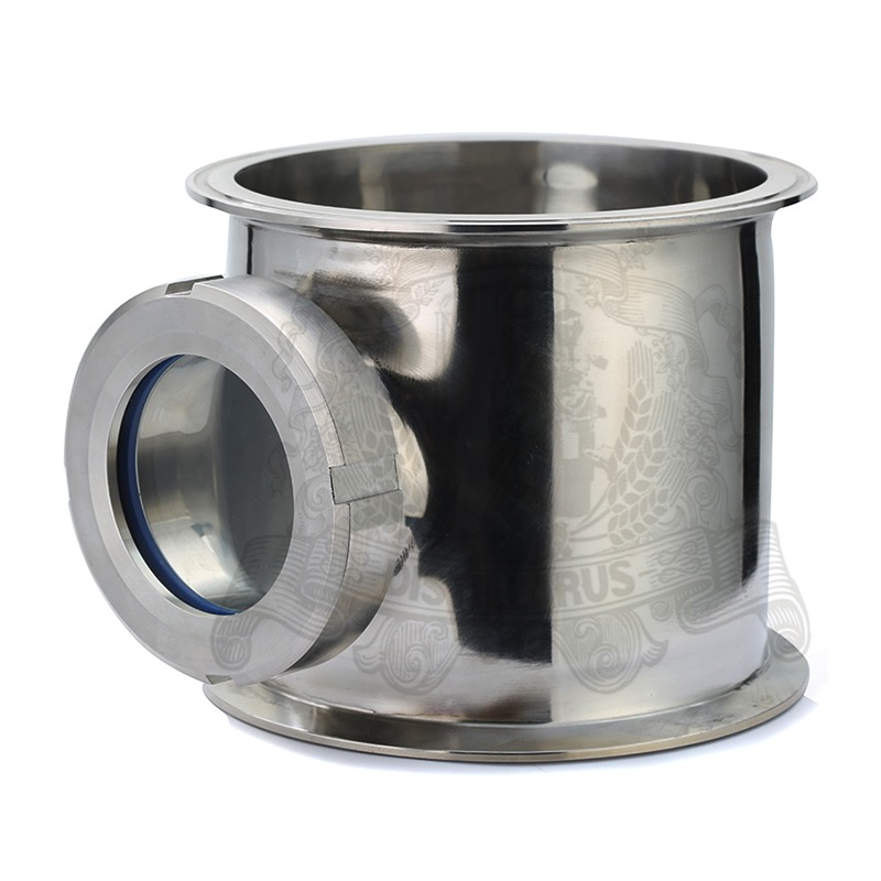 6.5 x 6.5 x 3 Stainless Steel Sight Glass Union Tri Clamp Tee SS304 273mm od sanitary weld on 286mm ferrule tri clamp stainless steel welding pipe fitting ss304 sw 273
