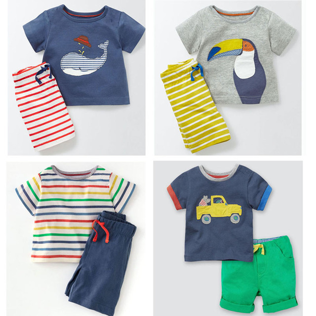 New 2018 Brand Quality 100 Cotton Baby Boys Clothing Sets Summer