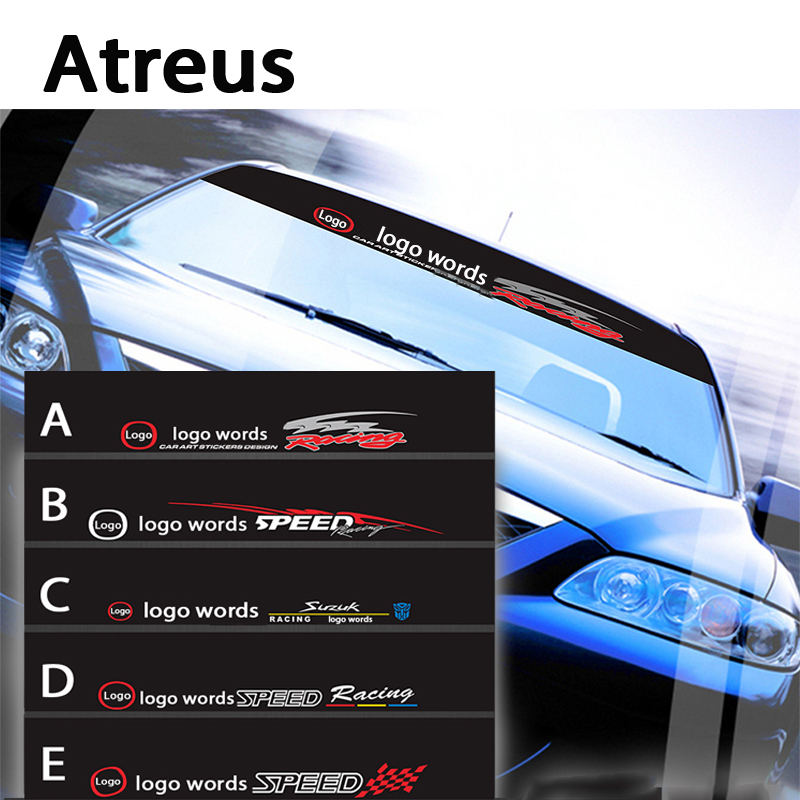 Atreus 1X Car logo Front Window Windshield Decal Reflective Stickers For Mazda 3 6 2 CX-5 CX5 CX-7 Cover Car-styling Accessories reflective front mitsubishi shelf reflective car stickers ling yue v3 lancer car stickers