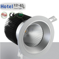 Hotel light, adjustable Glare free downlight 12w 20w 30w 45w 50w isolated LED driver + Integrated heatsink