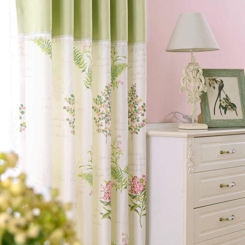 Korean Pastoral Pure and Fresh Custom Curtains Window Screen Finished Curtain for Living Room Dining Bedroom Bright  Beautiful