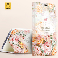 High Quality 3D Relief Print PU Leather Smart Flip Cover Case For Huawei P9 5 2