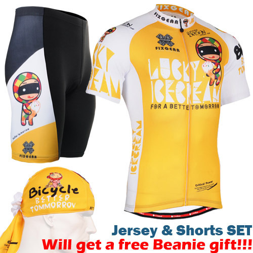 2016 summer cycling clothing newest yellow Mens Cycling Jersey Short sleeve Set Mountain Bicycle Sport Clothes suits