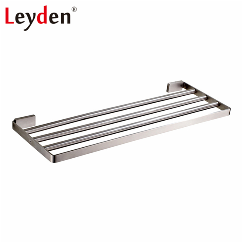 Leyden Towel Shelf Brushed Nickel Stainless Steel 60cm Towel Rack ...