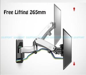 Image 5 - NB F500 Gas Spring 50 60 inch LED TV Wall Mount Monitor Holder Ergonomical Mount Loading 14 23kgs Max.VESA 400*400mm