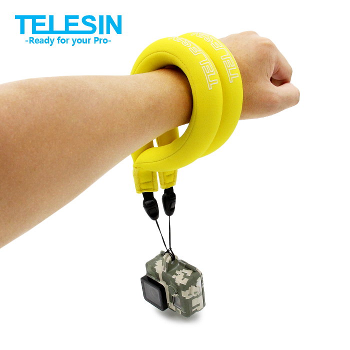 TELESIN 2 pcs Floating Wrist Strap Camera Float Hand Strap for Gopro Hero 5 4 3