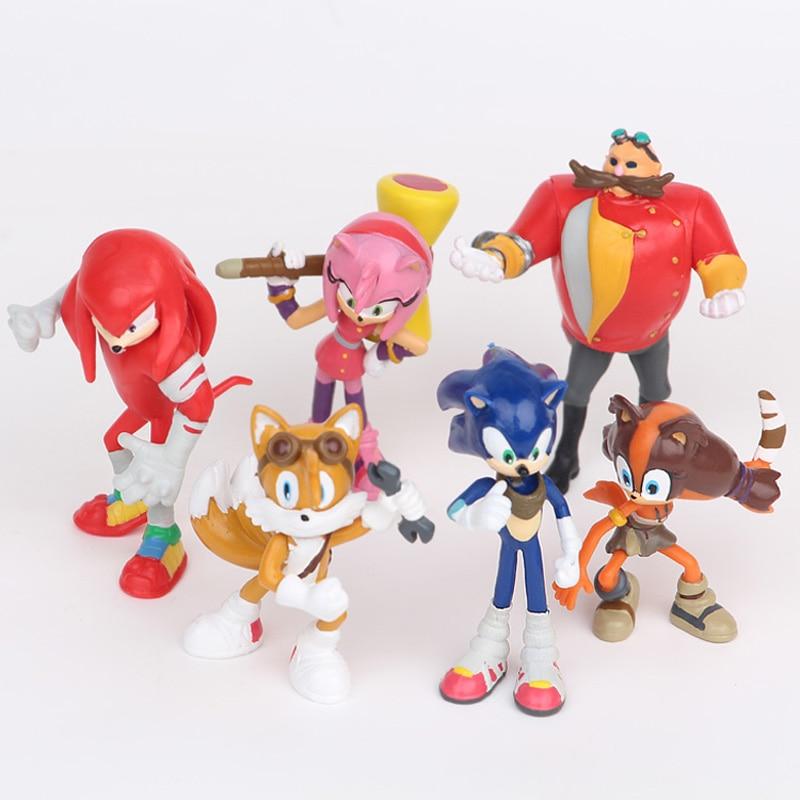 6PCS//LotSEGA sonic the hedgehog Figures toy
