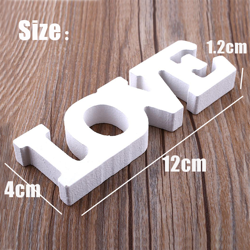 "HTB18wDmafjsK1Rjy1Xaq6zispXaw Wood Letters for Crafts Wedding Woody Romantic English Alphabet ""LOVE"" Home Decoration Accessories Wooden Letter Sign Desk Decor"