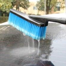 Leepee Lange Handvat Wasstraat Borstel Intrekbare Water Flow Switch Schuim Fles Car Cleaning Detailing Auto Wassen Gereedschap