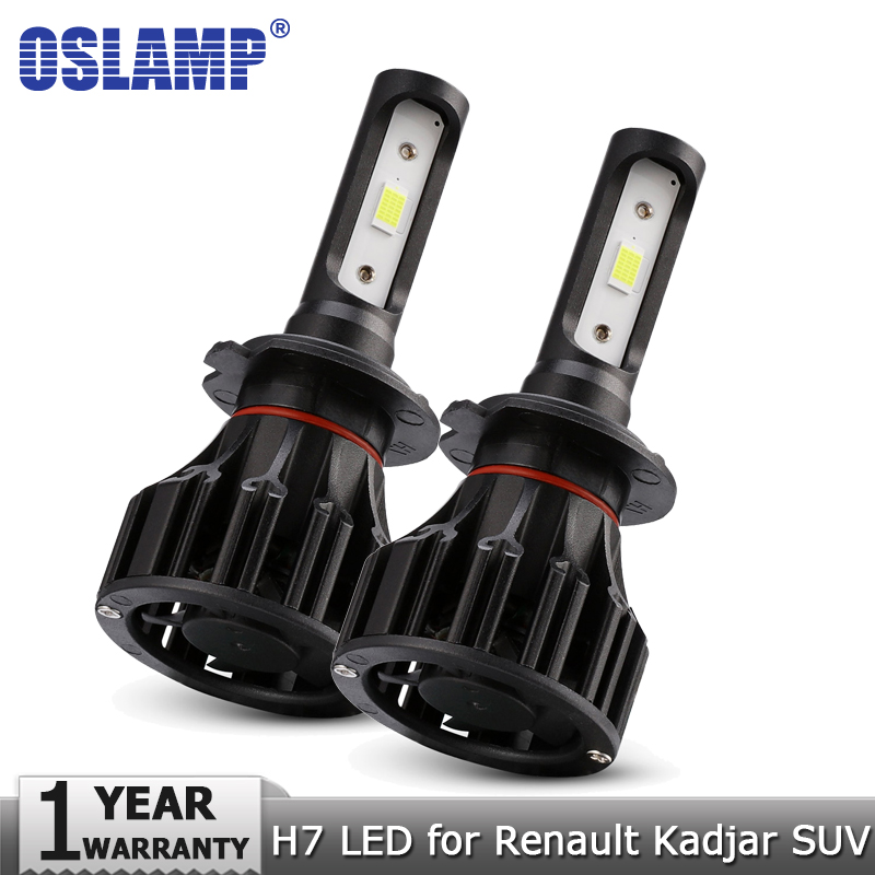 Oslamp COB 72W H7 Hi lo Beam LED Headlight Bulbs 8000LM 12v 24v Car Auto Led Headlamp Fog Lamp Lighting for Renault Kadjar SUV