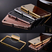 Luxury Aluminum Mirror Case For Sony Xperia Z Z1 Z2 Z4 Z5 Z3 Z5 Mini Compact Premium M4 M5 C3 C4 C5 C6 XA Ultra Back Cover