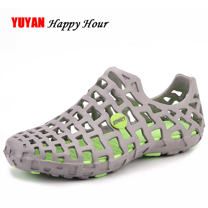 Fashion Summer Sandals Men Jelly Shoes High Quality Soft Beach Water Shoes Casual Brand Men's Sandals K257 junjarm men s sandals suede leather summer beach shoes fashion mens beach sandals high quality knit weaven water shoes