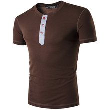 Casual Short T Shirt Brand O neck Slim Fit Tees Summer Popular Leisure Men's Tops B3780a