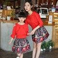 2017 estilo da família set moda 2 pcs mãe e filha se veste vestidos de mãe e filha vestido clothing família combinando roupas by9