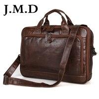 J.M.D Классический 100% натуральная кожа мужская сумка через плечо Сумка Бизнес Портфель ручная сумка для ноутбука 7005