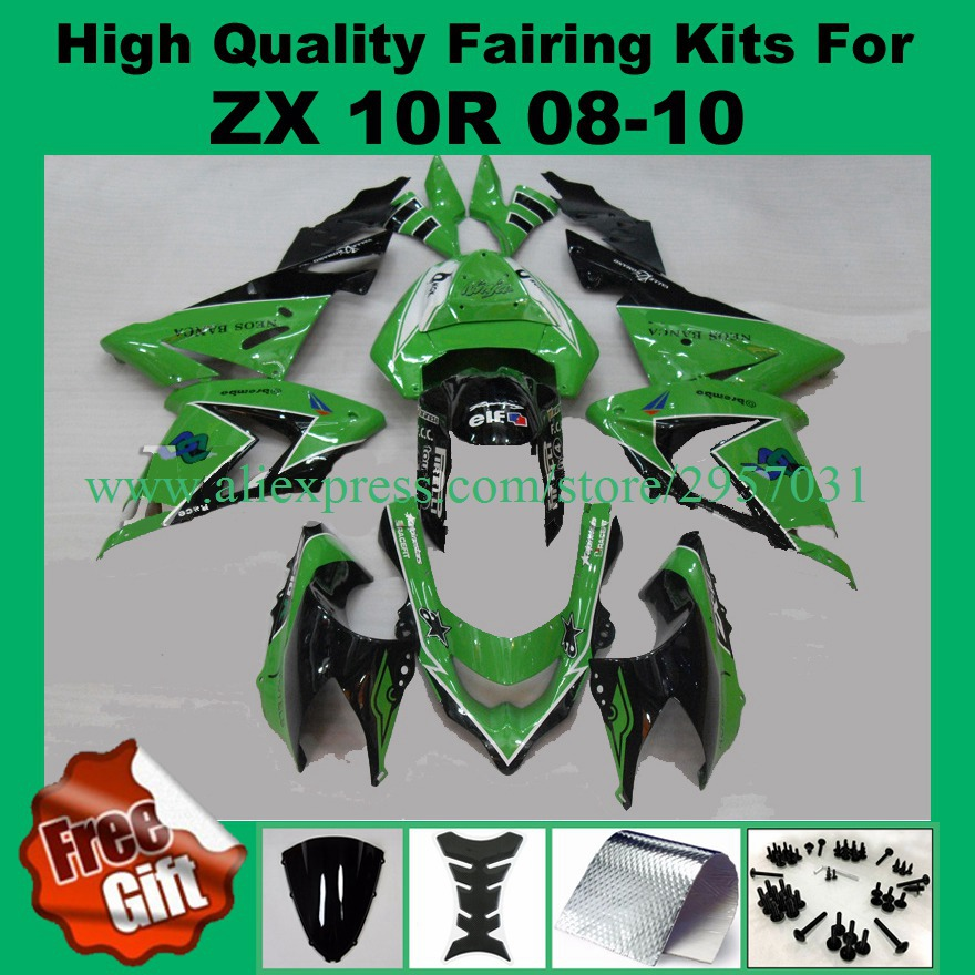 Kawasaki ZX10R 2008 2009 2010 Motorcycle Fairing Bolt Kit Ninja ZX-10R Complete Screws and Fasteners set 08 09 10