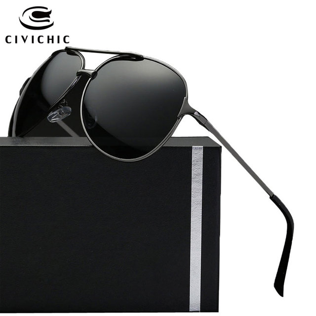 804c191dc1 CIVICHIC Hot Fashion Men Frog Mirror Eyewear Driving Polarized Sunglasses  Police Pilot Style Oculos De Sol