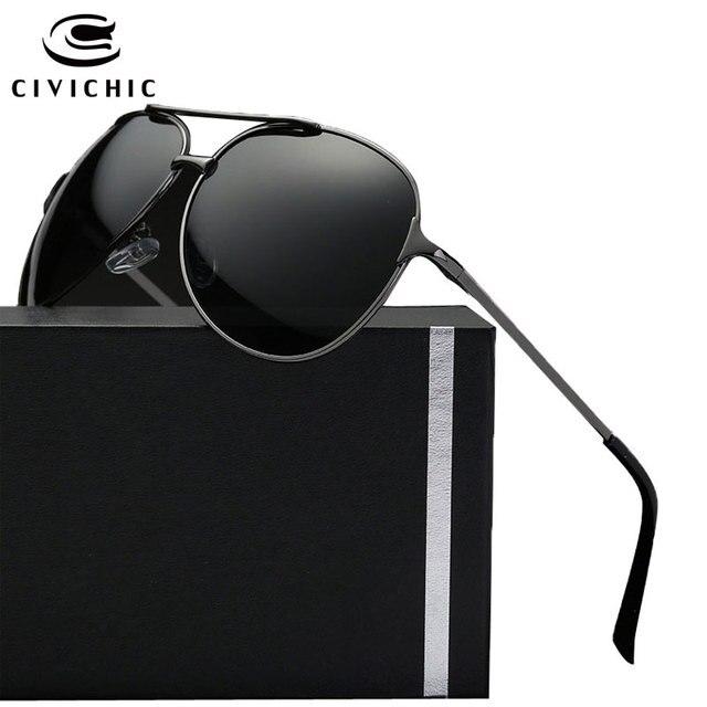 Civichic chaude mode hommes grenouille miroir lunettes conduite lunettes de soleil  polarisées police pilote style oculos 52107636e2ca