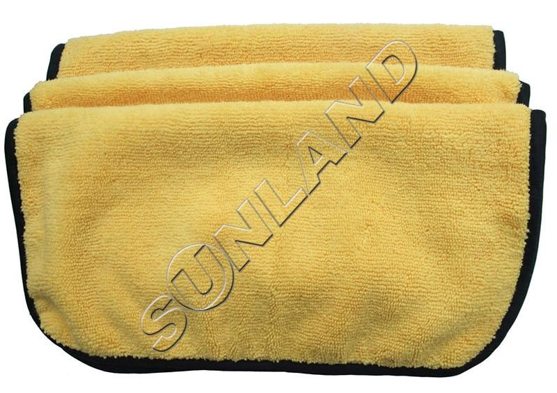 3 шт. 360gsm 30 см x 30 см плюшевая микрофибра две разные стороны полотенце для ухода за автомобилем автоматическая Чистка детализация воском блестящая одежда - Цвет: yellow