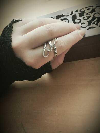 ¡Novedad! anillo de pulpo de aleación de estaño para hombre con personalidad estilo punk vintage, anillo con apertura, joyería unisex, tamaño ajustable