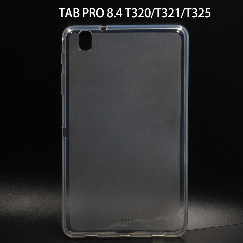 Case for Samsung Galaxy Tab Pro 8.4 SM-T320 T321 T325 Cover 360 Full Protective Soft TPU Cover Clear Back Slim Cases Tab Pro 8.4 image