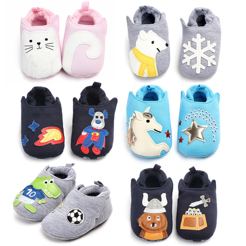 Cartoon Newborn Kids Baby Girls Boys Anti-Slip Warm Socks Slipper Shoes Boots