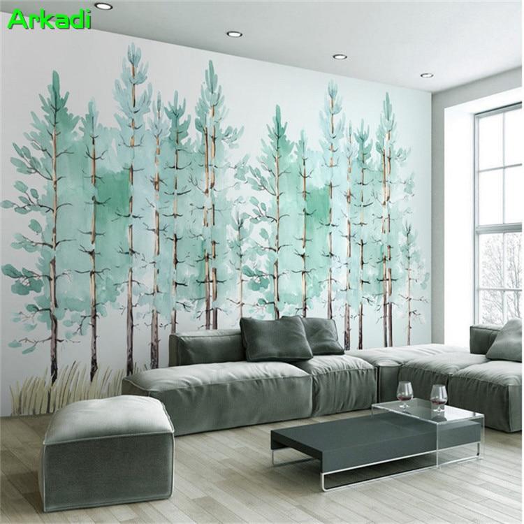 Modern minimalist bedroom living room wallpaper hand ...