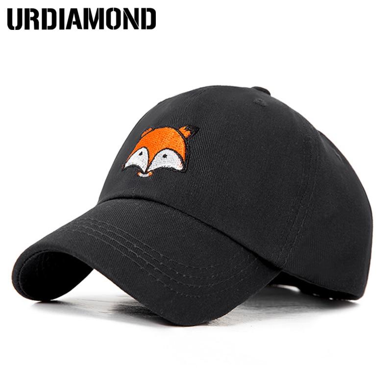8e79dcd5718 URDIAMOND 2018 Spring Fox Pattern Baseball Cap Snapback Hat Summer Cap Hip  Hop Fitted Cap Hats For Women Men Adjustable
