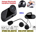 FM Radio BT Bluetooth Headset Motorcycle Helmet Intercom FDC Inter phone  TOM-FM