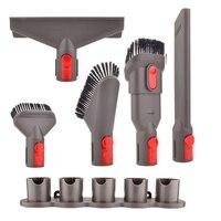 6 Pcs Befestigung Kit Pinsel Werkzeug Für Dyson V7 V8 V10 Für Dyson Staubsauger Matratze Werkzeug Spalt Werkzeug Düse Dyson teile-in Staubsauger-Teile aus Haushaltsgeräte bei