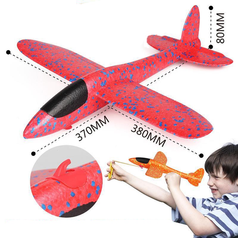 EPP Foam Airplane Hand Throw Aircraft Launch Rubber Band Ejection DIY Glider Plane Toys For Children Kids Outdoor Game image